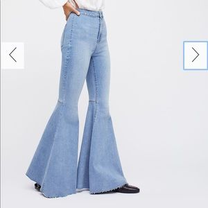 Just Float On Flare Jeans- Free People